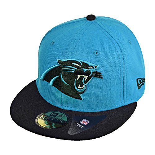 NFL Carolina Panthers Two Tone 59Fifty Fitted Cap, Blue/Black, 7 3/4 Carolina Panthers Fitted Hat