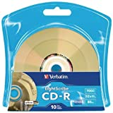 Verbatim 52X CD-R LightScribe Blank Media, 700MB/80min - 10 Pack (96934)