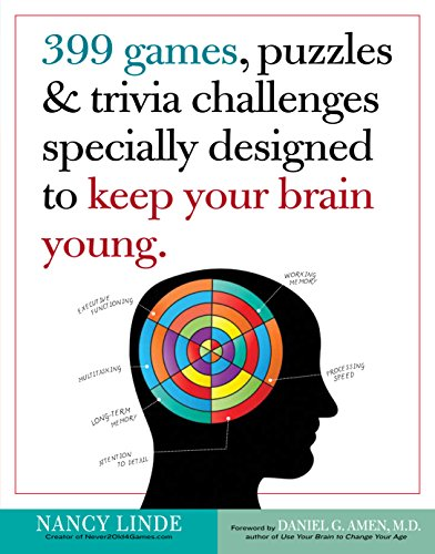 399 Games, Puzzles & Trivia Challenges Specially Designed to Keep Your Brain Young. (Brain Teasers Riddles With Answers For Adults)