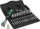 Wera 05004019001 8100 SA 9 Zyklop Imperial Speed Ratchet Set, 28 Piece, 1/4'' Drive