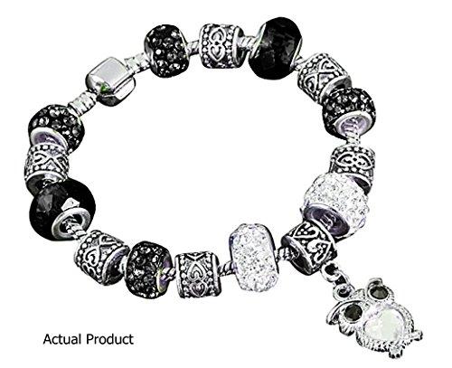 Owl Bead Bracelet - Silver Plated - Collectors Nightfall