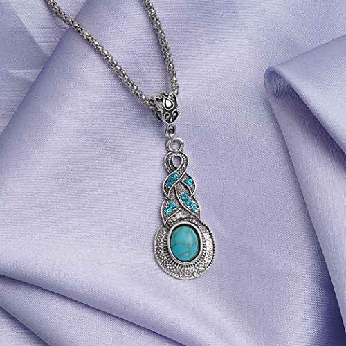 Asooll Bohemian Turquoise Necklace Pendant product image