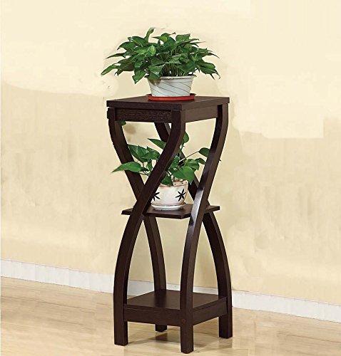 Elegant Stand (Benzara Elegant Design Large Plant Stand, Dark Brown Planter)