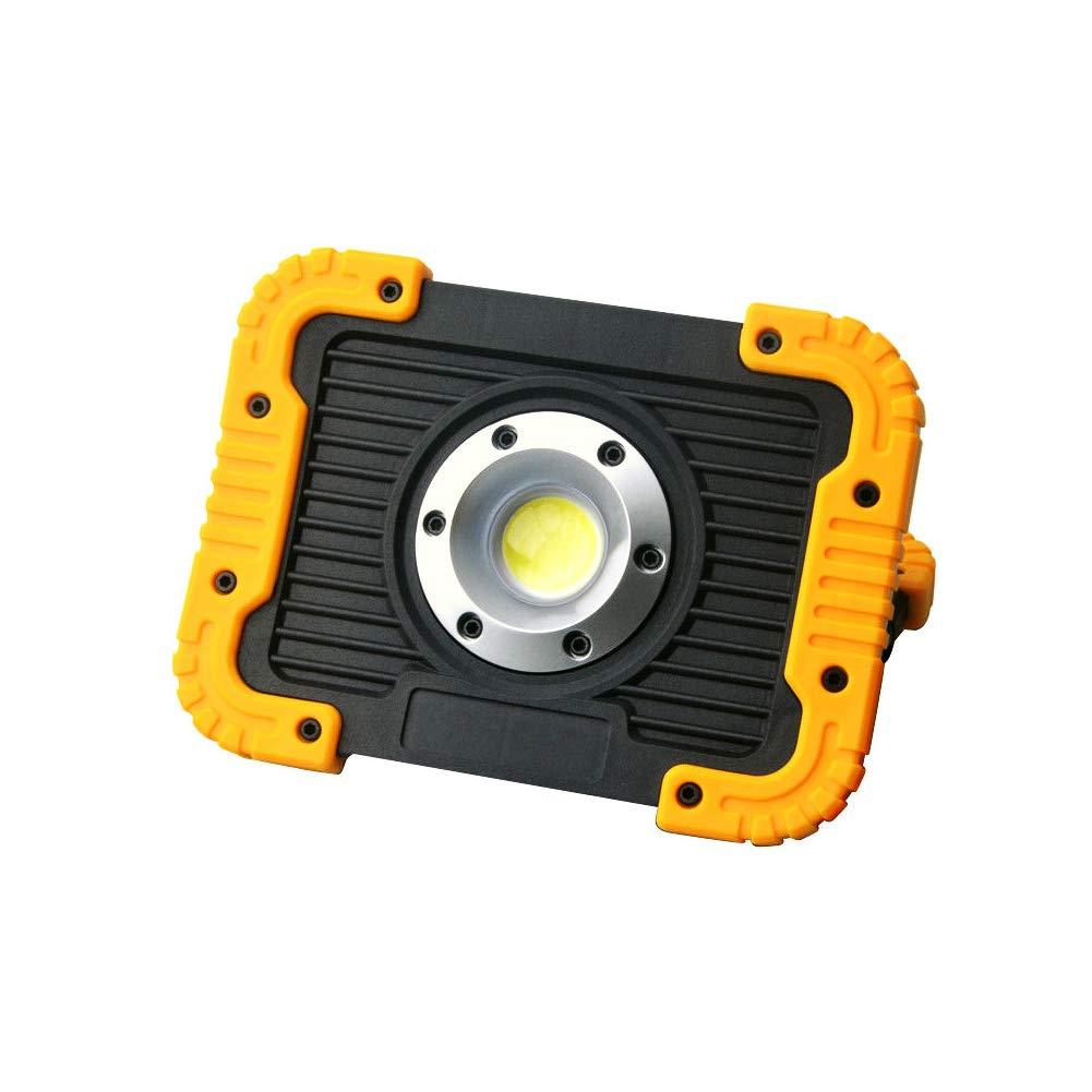 PUAO COB Lampe de Travail exté rieure LED Portable 2 Ports USB 10 W Lumiè re du Jour pour Chantier d'atelier Exté rieur Caving Camping