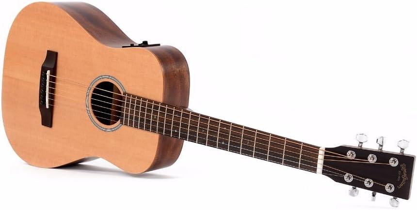 Sigma tm-12e Guitarra Acústica de viaje incl. Bolsa: Amazon.es ...