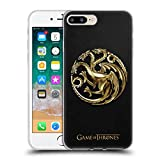 Official HBO Game of Thrones Gold Targaryen Sigils Soft Gel Case for iPhone 7 Plus/iPhone 8 Plus