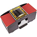 Battery Operated Automatic Card Shuffler, 2 Deck Card Shuffler for Home Card Games, Poker, Rummy, Blackjack