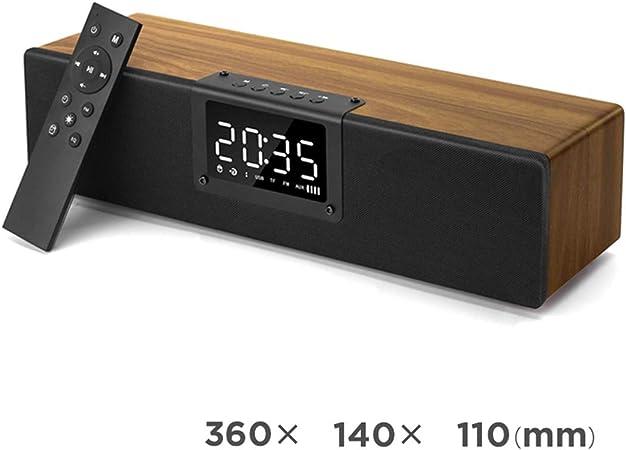 Vintage bois sans fil Bluetooth réveil haut parleur, Smart