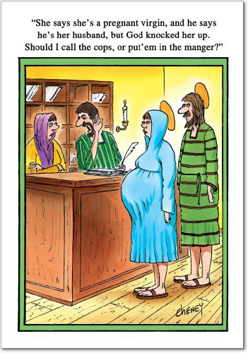 Card Nativity Christmas Scene (12 'Call Cops' Boxed Christmas Cards w/Envelopes (4.75 x 6.625 Inch), Hilarious Virgin Mary and Joseph Christmas Cards, Funny Nativity Scene Cards, Religious Humor, Silly Christmas Stationery B1570)