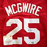 Mark McGwire St. Louis Cardinals Signed Autographed Red #25 Jersey COA
