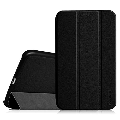 Fintie Samsung Galaxy Tab 4 8.0 (8-Inch) Case - Ultra Lightweight Protective Slim Shell Stand Cover with Auto Sleep/Wake Feature, Black ()