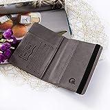 Leather Passport Holder Cover Wallet RFID Blocking
