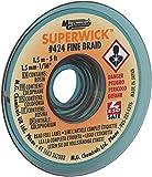 MG Chemicals Desoldering Braid #2 Fine Braid Super Wick with RMA Flux, 5' Length x 0.05' Width, Yellow