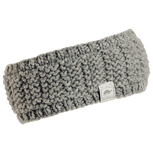 Turtle Fur Shay Womens Fleece Lined Wide Knit Headband Smoke
