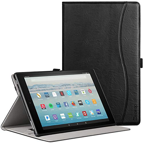 (Ztotop Folio Case for All Fire HD 10 Tablet (2017 Release, 7th Generation) - Smart Cover Slim Folding Stand Case with Auto Wake/Sleep for All Fire HD 10 Tablet,Black)