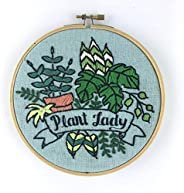 Plant Lady Embroidery Kit (blue)