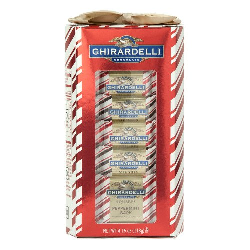 Ghirardelli Limited Edition Peppermint Bark Squares Holiday Gift Set 4.1 oz.