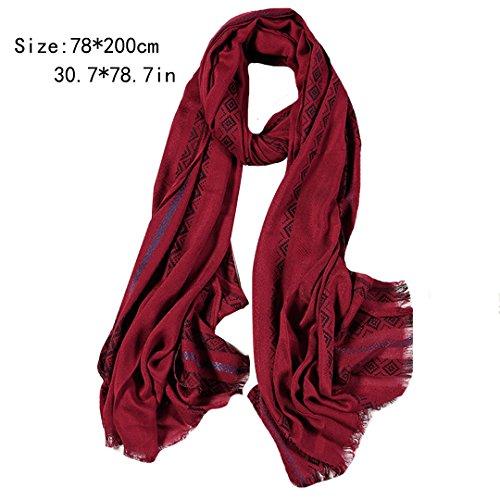 invierno mujer chal rojo oto Aisi bufanda bufanda o aqxwp7vE