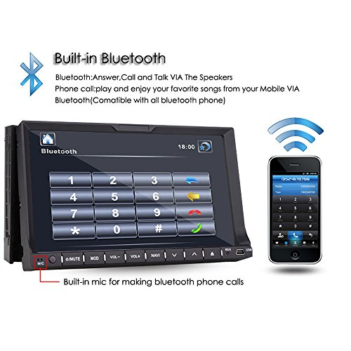 TOCADO Double Car with Camera In Dash GPS and MP3,CD,DVD SUB USB/SD MirrorLink Free Backup