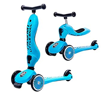 Amazon.com: 2 en 1 Patinete para niños de 3 Rueda Scooter ...