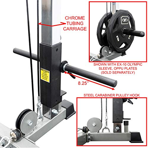 Gym Equipment Khobar: Valor Fitness BD-7 Power Rack W/LAT Pull Attachment And