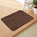 Household mats living room bathroom mats water-absorbing memory foam carpet -4060cm Brown