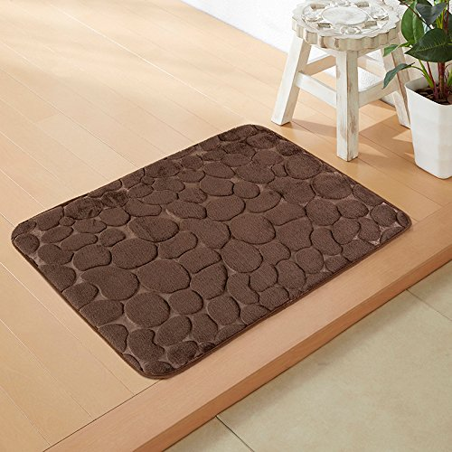 Household mats living room bathroom mats water-absorbing memory foam carpet -4060cm Brown by ZYZX