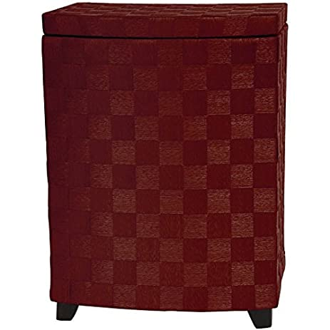 Oriental Furniture 27u0026quot; Natural Fiber Laundry Hamper   Mahogany