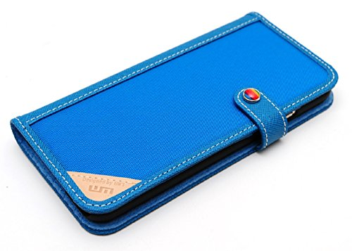 LIM's Designer Cordura Innovation Diary Type Case for iPhone 6 (Blue)