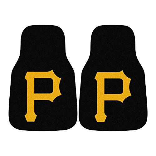 FANMATS MLB Pittsburgh Pirates Nylon Face Carpet Car Mat (Pirates Carpet Pittsburgh)