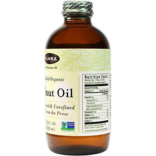Flora Walnut Oil Certified Organic, 8.5-Ounce Glass Bottle