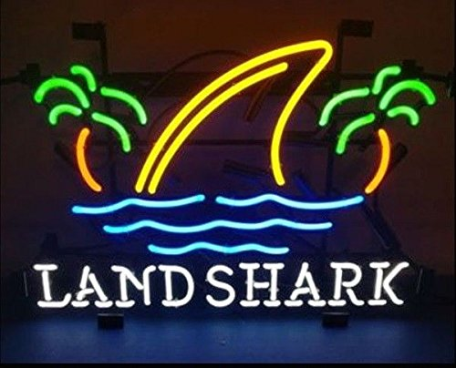 Desung Brand New 20''x16'' Landshark Lager Neon Sign (Various sizes) Beer Bar Pub Man Cave Business Glass Neon Lamp Light DB254