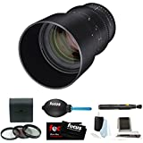 Rokinon Cine DS 135mm T2.2 Telephoto Cine Lens (Sony E-Mount) + Accessory Bundle