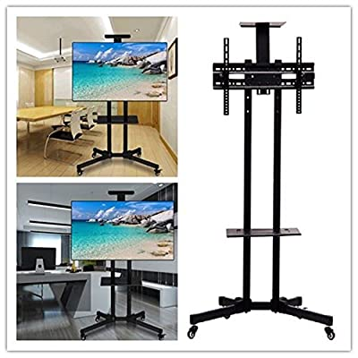 "Eosphorus Rolling TV Cart LCD LED Plasma Flat Panels Stand w/ Wheels Mobile fit 32"" to 65"""
