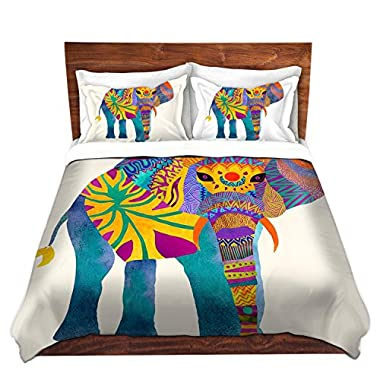 Duvet Cover Brushed Twill Twin, Queen, King SETs DiaNoche Designs by Pom Graphic Design Unique Home Decor Bedding Ideas - Whimsical Elephant I