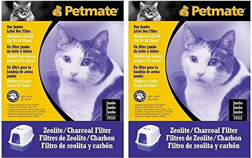 Petmate Zeolite Jumbo Hooded Litter Box Filters (2 Pack)
