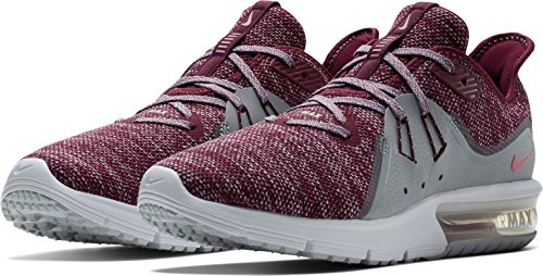 NIKE Womens Air Max Sequent 3 Running Shoe Bordeaux/Elemental Pink-wolf Grey 9GIEDLL6R