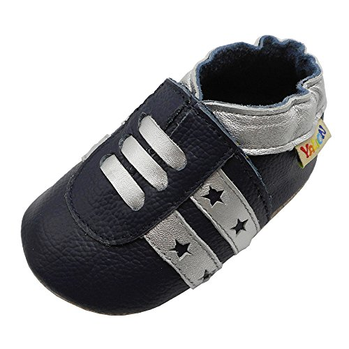Yalion Baby Boys Girls Shoes Crawling Slipper Toddler Infant Soft Leather First Walking Moccasins (APPR.18-24 Mos/5.9