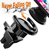 #8: Air Vent Clip Car Mount Cell Phone Holder for Pop Socket Popsocket Users for IPhone X 8 8 Plus 7 7 Plus 6s 6 Plus 6 5s 5 4s 4 Samsung Galaxy S9 S8 Edge S7 S6 S5 S4 Pixel 2 LG Nexus Sony