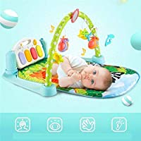 Sky Tech® Kick and Play Multi-Function ABS High Grade Plastic Piano Baby Gym and Fitness Rack with Hanging Rattles, Music & Light(Multicolored)