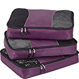 eBags Large Packing Cubes for Travel - 3pc Set - (Eggplant)