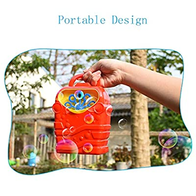 Deerbb Bubble Machine for Kids, Toddler Outdoor Toys, Best Electric Automatic Bubble Maker Blower for Party: Toys & Games