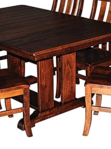 Aspen Tree Interiors Solid Wood Heirloom 9 Piece Dining Room Kitchen Table Set Get Ready for the Holidays and Generations to Come – Made in America – 2 Leaves, 6 Chairs – WHITE GLOVE DELIVERY