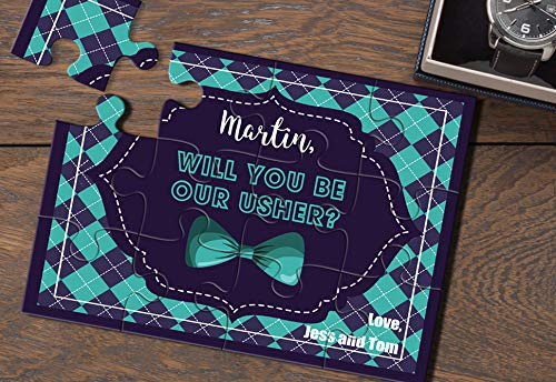 Will you be my Usher Puzzle Invitation Will you be my Best Man Card Asking Usher Will you be my Groomsman Puzzle proposal