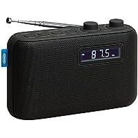 Jensen Alarm Clock Home Audio Radio Black (SR-50)
