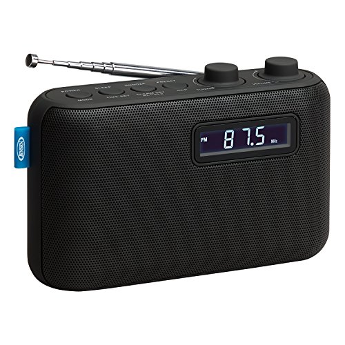 Jensen Alarm Clock Home Audio Radio Black