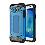 "AENMIL Drop Resistance Case For Galaxy A7(2016) 5.5"", 2-in-1 Shockproof TPU + PC Tough Armor Defender Extreme Protective Cover Shell For Samsung - Blue"