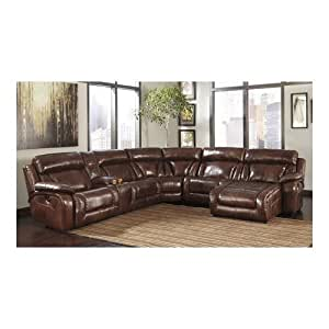 Ashley elemen u99201sec6r 6 piece sectional for 2 arm pressback chaise