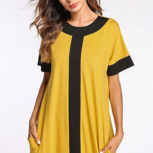 Zhuhaitf Clothing Caftan Long Moroccan Fashion Islamic Yellow Kaftan Dress Women Yellow Maxi Casual Designer 77fxErwq