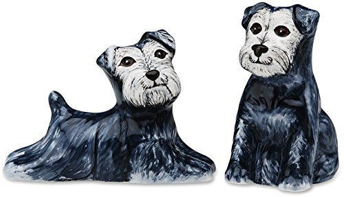 Rescue Me Now Schnauzer Dog Salt and Pepper Shaker Set by Rescue Me Now